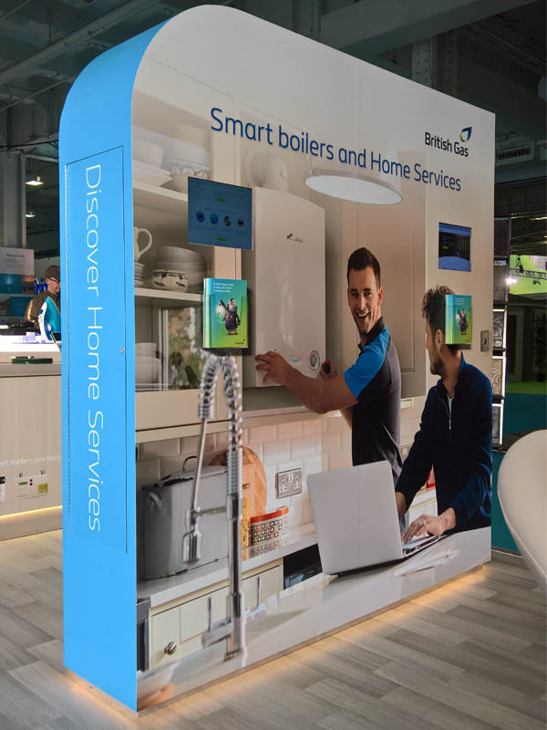 british gas exhibition stand wall