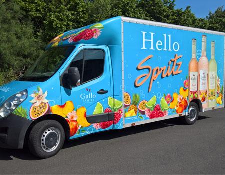 sampling van for hire
