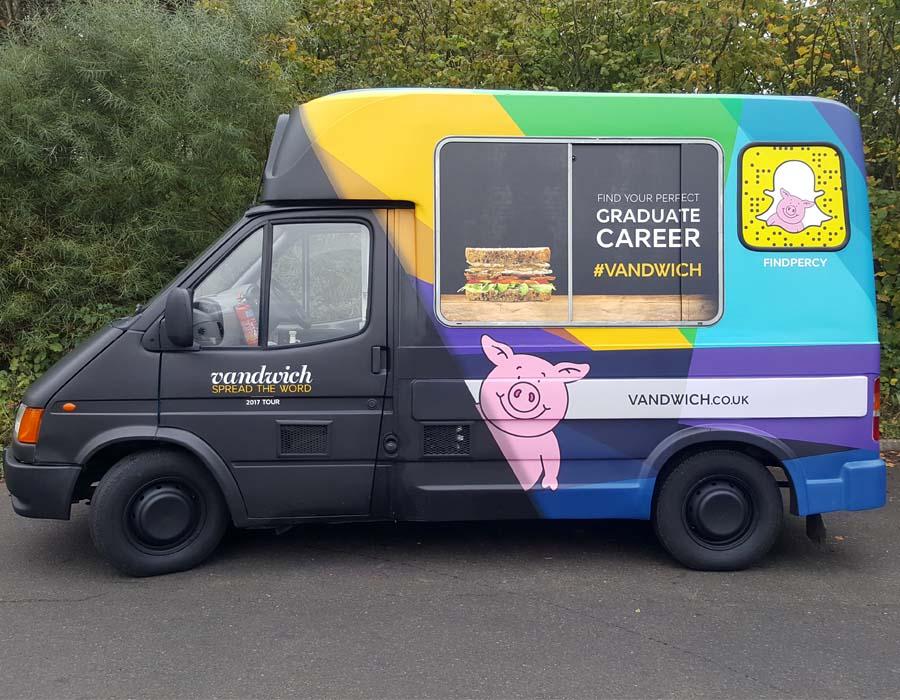 Ice cream van wrap for m&s vandwich