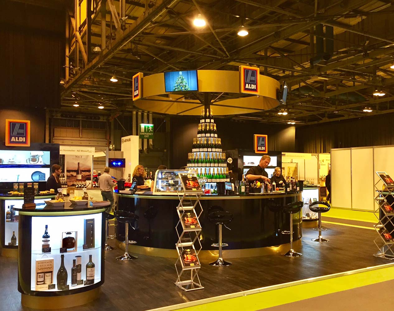 aldi exhibition stand