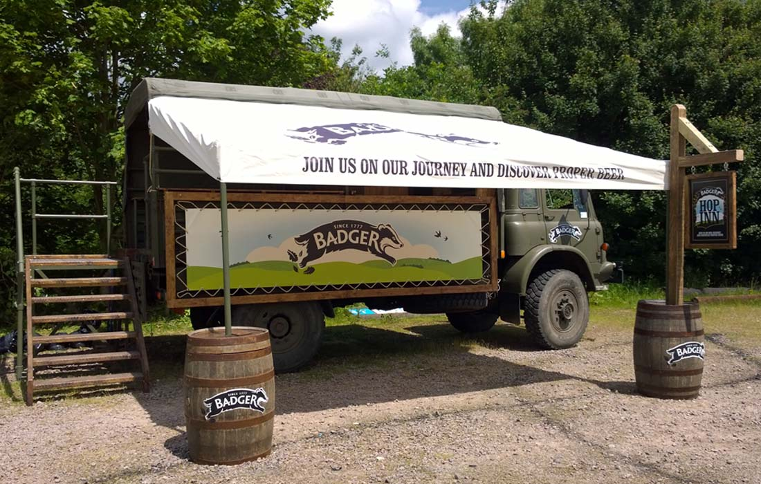 badger beer converted army truck