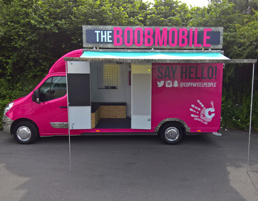 Coppafeel breast cancer charity boobmobile
