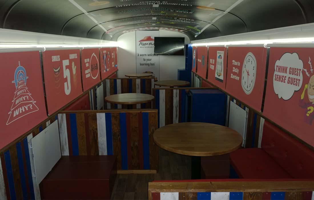 Pizza hut american school bus