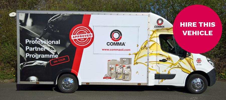 comma oil hire van