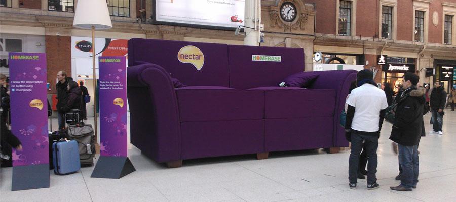 Giant nectar sofa